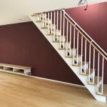 デザイン性のあるスケルトンリビング階段